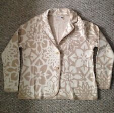 Isaac Mizrahi Live! Khaki/Ivory Floral Jacquard Sweater Blazer Womens Sz XL NWOT