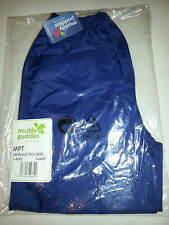 MUDDY PUDDLES navy Puddlepac waterproof trousers Age 3-4 rrp£12