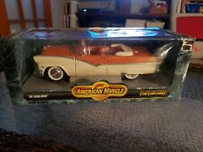1:18 Diecast Car ~ Ertl American Muscle ~ '56 Ford Sunliner ~ Orange and White