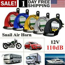 110dB Universal Waterproof Car Motorcycle Snail Air Horn 12V E-Bike Loud USA