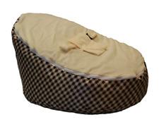 BayB Brand Baby Bean Bag - Cream Plaid