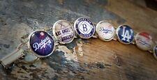 Los Angeles Dodgers Logo Handmade Glass Charm Bracelet MLB
