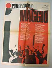 POTERE OPERAIO DEL LUNEDÌ,n.10,7 mag.1972.Settimanale politico[storia,movimento
