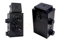 black color DIY Retro Holga Lomo Recesky TLR 35mm Film Twin Lens Reflex Kit