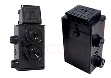 black color DIY Retro Holga Lomo Recesky TLR 35mm Film Twin Lens Reflex Kit