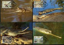 4 Maxi-Cards Krokodile, Bangladesch   15/1/14