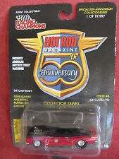 Racing Champions Hot Rod Magazine  1968 Camaro  #6  Red  1:56 scale  NOC w-11