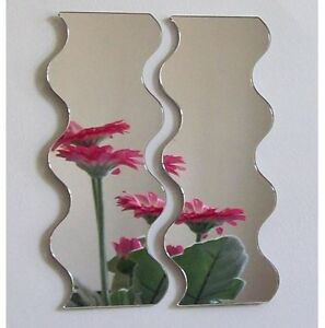 Pair of Wave Acrylic Mirror (Several Sizes Available)