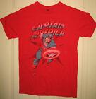 MARVEL COMICS Shirt S 2011 Captain America Avengers Superhero Cap A OOP HTF RARE