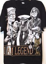 VTG 90s I AM LEGEND Bugs Bart Simpson Tom&Jerry Popeye Mario OG HIPHOP Tshirt XL