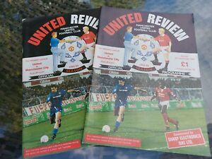 MANCHESTER UNITED v MANCHESTER CITY FOOTBALL PROGRAMME 1992/93 CANTONA DEBUT x2