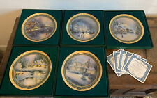 Bradford Exchange Thomas Kinkade Christmas Plates Ltd Edition Original Box Coa