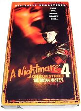 A Nightmare on Elm Street 4 - The Dream Master (VHS, 1999) Robert Englund!