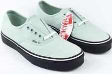 Vans Authentic Black Outsole Mens Size 7 Seafoam Womens Size 8.5 Skate Shoes