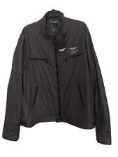 Hackett Men's Aston Martin Racing Legend Moto Steel Grey Jacket Size 2XL