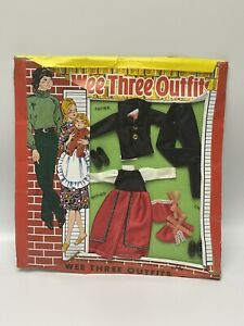 New in Package Wee Three Outfits Barbie Clone Accessories  01040 NIB By Totsy