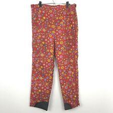 VTG Skyr Men's Size Medium Red Funky Floral Butterfly Ski Pants - Made in Japan