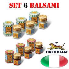 SET X 6 Balsamo di tigre Rosso e Bianco / RED AND WHITE TIGER BALM - 19 gr.