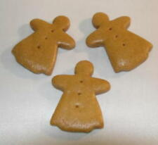 MINI GINGERBREAD GIRL ~ Gingerbread Ornament ~ Set of 6 ~ MADE IN THE USA (NEW)