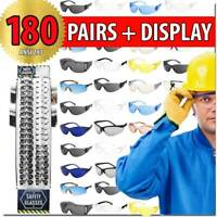 SAFETY GLASSES 180 PCS WITH DISPLAY PROTECTIVE EYEWEAR SHOOTING GLASSES