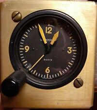 New ListingNice! Working, Military/Ww2? Original 8 Day Aircraft Wakmann Clock - Swiss Made