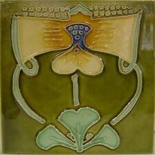 9934007 Jugendstil-Fliese Kachel Keramik neu 15,2x15,2cm