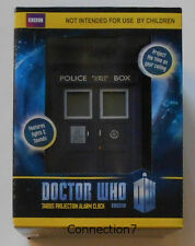 Dr Who Tardis Projection Alarm Clock BBC New