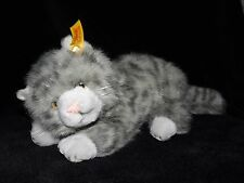STEIFF GREY CAT SOFT TOY GREY COMFORTER DOUDOU NO. 099496