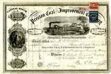 1906 Preston Coal & Improvement Stock Certificate