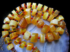 "Amber Bead Necklace Baltic Untreated Graduated 21"" Handmade 39.8g Copper Clasp"