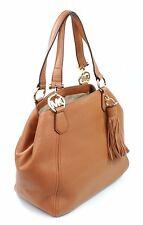Michael Kors Leather Fulton Grab Shoulder Bag Tan Acorn Large Handbag RRP £330