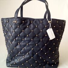 *BRAND NEW WITH TAG* NEIMAN MARCUS STUDDED LARGE CARRY-ALL BAG HANDBAG - BLUE