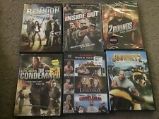 Lot Of 6 Wrestler WWF/WWE DVD Movies (Rock, Triple h, John Cena, Etc)