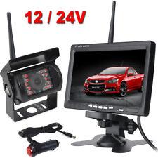 "Wireless 7"" HD Rear View Monitor Night Vision Reversing Camera Kit for Truck RV"