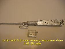 1/8 Metal M2 0.5 inch  HEAVY MACHINE GUN  for  R/C US Army Tank Armored Vehicle