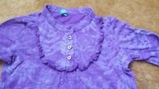 Girl 3-4 years Benetton purple long sleeve blouse top frill detail ornament