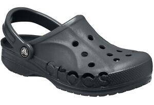 Crocs Unisex Adult Baya Clogs- Black, Size UK 9/10 New In Original Packaging