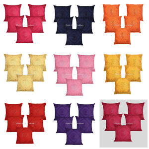 "Indian Mirror Cotton Large 24"" Cushion Cover Handmade Designer Throw Pillow Case"