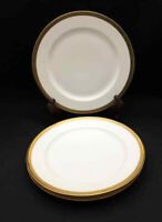 Haviland Mirabeau Dinner Plates (set of 3) - White with Gold Rim
