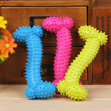 Durable Pet Chew Toy Soft Small Rubber Bone Squeaky Dot For Puppy Dog Newly Gift
