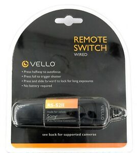 Vello Remote Switch (Wired) RS-S2II for Sony Multi-Terminal Connection - New