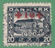 Denmark #B2 used 20+10o 1921 cv $77.50
