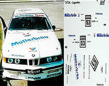 BMW 635 CSI DTM müllerbräu #53 MÜLLER 1:43 DECALCOMANIA