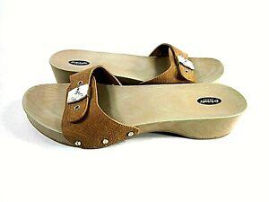 Dr. Scholl's Womens Originalist Nude Microfiber Sandals US Size 9 M, Eur 39