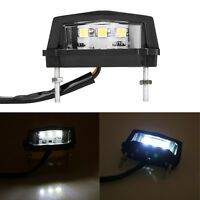 LED License Number Plate Light Tail Rear Lamp For Motorcycle Trailer Lorry 12V