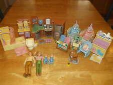 Lot Fisher Price Loving Family Doll Furniture Nursery Kitchen Bathroom