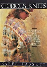 Glorious Knits, by Kaffe Fassett, book, paperback, 1985, 160 pages