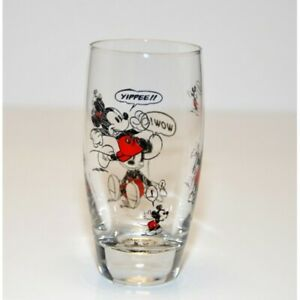 Disneyland Paris Mickey Mouse Comic Strip Tall Glass    N:2138