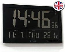 Technoline WS8007 grande LCD Digital Horloge Murale avec date et intérieur Température