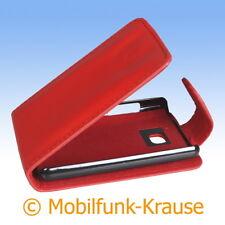 Flip Case Etui Handytasche Tasche Hülle f. LG E430 Optimus L3 II (Rot)